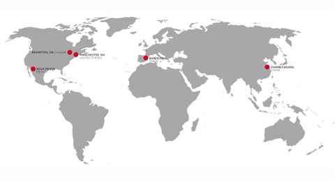 Velcro Industries Company Map